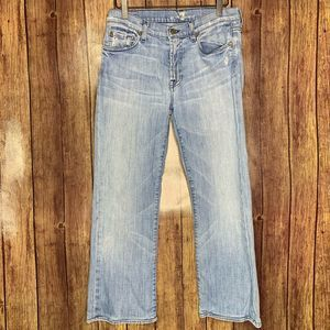 7 for All Mankind Boot Cut Light Wash Jeans